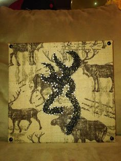 Browning Deer String Art Home Decor by ValaCreations on Etsy