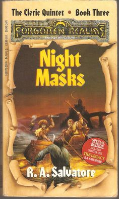 Night Masks. by R. A. Salvatore. The Cleric Quintet. Book Three.