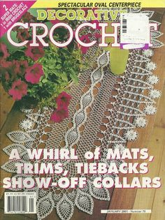 DECORATIVE CROCHET MAGAZINE  25 Projects  Doilies  by KenyonBooks, $5.00