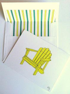Coastal Note Card Adirondack Chair Note Card by IdAndEgoCreations, $3.75