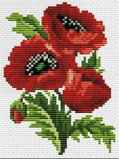 Diy Crafts - embroidery-Embroidery Flowers Easy Free Pattern 35 New Ideas flowers embroidery Easy Cross Stitch Patterns, Simple Cross Stitch, Cross Stitch Rose, Cross Patterns, Cross Stitch Flowers, Cross Stitch Designs, Diy Embroidery, Cross Stitch Embroidery, Embroidery Patterns