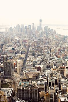 view of the city at the top of the empire state building - manhattan, new york.
