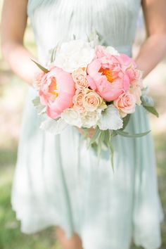 Love a peony bridesmaid #bouquet | Photography: www.styleartlife.com | Floral Design: www.ladybuglee.com