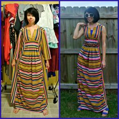 How I love my dress of many colors! :)