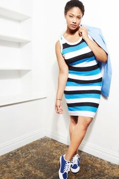 Striped Sweater Dress | French Twist Collection | Women's Plus Size Fashion | ELOQUII