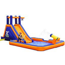 All the neighborhood kids will want to board the Blast Zone Buccaneer Inflatable Water Park . Kids will have a blast climbing up the cliffs,. Outdoor Toys, Outdoor Play, Inflatable Water Park, Water Cannon, Inflatable Bouncers, Bouncy House, Backyard Play, Climbing Wall, Pirate Theme