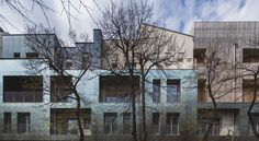 Image 15 of 49 from gallery of New Regolo Quarter / Alfonso Femia Gianluca Peluffo. Photograph by Luc Boegly Cladding Systems, Alessi, Old Houses, Townhouse, Facade, Multi Story Building, Exterior, Mansions, Photo And Video
