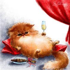 sibarita, ilustración de Elina Ellis