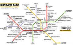 Mappa di Milano dei luoghi da vivere d'estate! La Summer Map è una mappa tematica che indica i luoghi da vivere d'estate a Milano: questo è il quarto appuntamento con le metro-mappe meneghine! Per ognuna delle fermate delle quattro metropolitane #mappa #milano #summermap #estate #metro