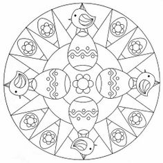 Easter Mandala Coloring Pages For Kids Printable Chicks And Eggs Awesome With