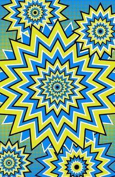 Fireworks optical illusion