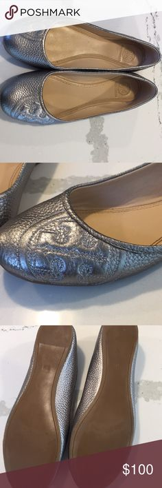 f59ceb5f26757d Shop Women s Tory Burch Silver size 8 Flats   Loafers at a discounted price  at Poshmark. Comes with box and dust bag.