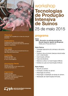 2015 Cartaz Workshop em Tecnologias de Producao Intensiva de Suinos