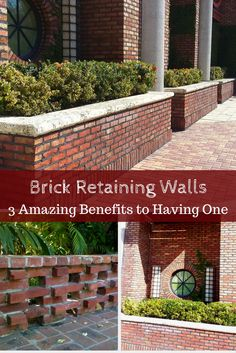 Brick retaining walls aren't just gorgeous additions to your landscape. Here are 3 amazing benefits to having a retaining wall built! #mortonstones #brickwall #rustic #modernhome #decor #interiordesign #interior #homeideas #brickveneers #accentwall #home  #retainingwall
