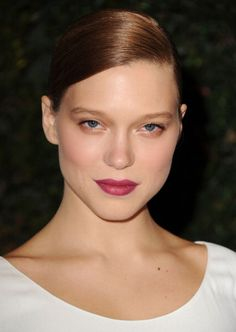 Lea Seydoux at the Academy of Motion Pictures Arts and Sciences Governor Awards as a guest of Prada. Hair by Renato Campora. Makeup by Matthew Van Leeuwen. Manicure by Ashlie Johnson.