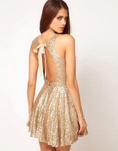 TFNC   TFNC Sequin Dress with Open Back & Full Layered Prom Skirt at ASOS