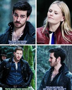 """Did you just miss the part where I same monster?"" Lol Hook calling Emma out to Charming. XD"