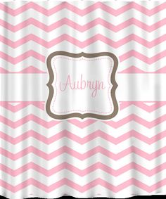 Items similar to Custom Personalized Chevron Shower Curtain -Any color -Shown here in Turquoise with pink accents on Etsy Girl Bathrooms, Baby Bathroom, Pastel Pink, Pink Grey, Girl Room, Color Show, Taupe, Chevron, Gray Color