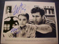 "Mel Gibson & Nick Stahl Hand Signed B & W 8 x 10 ""The Man Without A Face"" Photo / Ebay"