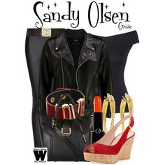 Inspired by Olivia Newton-John as Sandy Olsen in 1978's Grease.