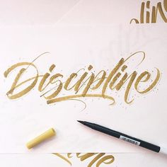 """Discipline"" by @ligatures  #typespot for a feature!  #typography #type #typo #customtype #graphicdesign #script #letters #lettering #handlettering #customlettering #vector by typespot"