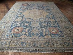 """Huntt Vintage Rugs & Kilims  1950's Antique Persian Rug, Gorgeous Colors and Design.  Wool pile  All Natural Vegetable Dyes  Good Condition - Has lived a """"full life"""" and has a..."""