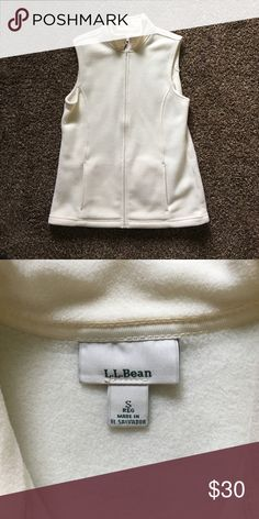 Never worn L.L. Bean vest Size small cream colored L.L. Bean vest. Never worn. It was a fit and it too small for my liking. Very soft. Like new. L.L. Bean Jackets & Coats Vests