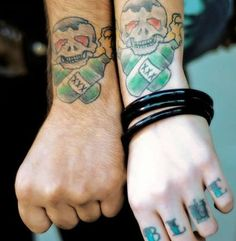 skull Tattoo http://getdesign.org/love-tattoos/