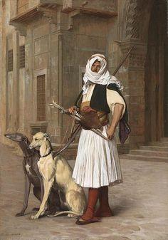 A guard and his dogs by Jean-Léon Gérôme (1824-1904)