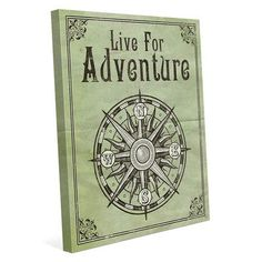 "Click Wall Art 'Live for Adventure' Graphic Art on Wrapped Canvas Size: 40"" H x 30"" W x 1.5"" D"