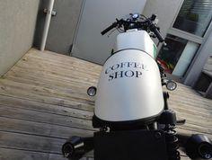 """Moto Guzzi V65 """"The Weed"""" Coffe Shop Moto Guzzi, Coffee Shop, Weed, Motorcycle, Shopping, Coffee Shops, Coffeehouse, Marijuana Plants, Motorcycles"""