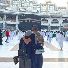 hijab, muslim, and couple image