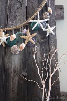 DIY Home Decor Projects for Summer -  DIY Beach Garland - Creative Summery Ideas for Table, Kitchen, Wall Art and Indoor Decor for Summer