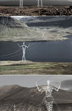 If I wasn't already totally smitten with Iceland , looking at those awesome human-like and reindeer-like electric poles would surelysea...