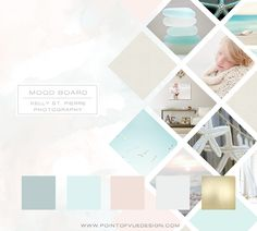 Kelly St-Pierre Photography - Branding Mood Board - Point of Vue Design - www.pointofvuedesign.com