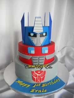 Transformer Cake - Someone make me this for my birthday!!