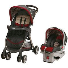 Graco 1934980 Fastaction Fold Stroller Click Connect Travel System, Finley 2015