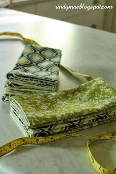 Muslin lined napkins - perfect DIY gift!