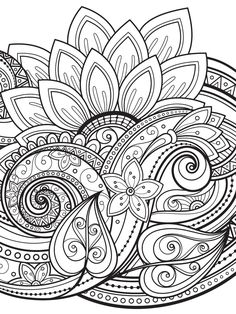 from Color Mind Mandala Coloring Pages, Coloring Book Pages, Printable Coloring Pages, Coloring Sheets, Color Mind, Colouring Pics, Zentangle Patterns, Zentangles, Mandala Drawing