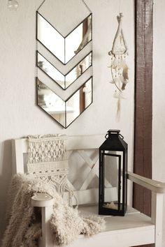 Dining Room Mirror Wall, Tall Wall Mirrors, Mirror Wall Art, Hanging Wall Art, Tall Wall Decor, Mirror Mirror, Wall Hangings, Chevron Wall Decor, Art