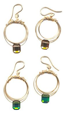 Swarovski Hoop Earrings : Earrings : Handmade Jewelry by Peggy Li Creations
