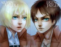 Eren + Armin Postcards by Londei. - Michael Adkins - Google+