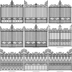 different plans for iron fencing