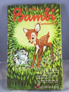 Vintage 1966 Walt Disney's Bambi Cartoon Kit By ColorForms Toy #ColorForms