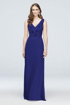 98baaa4361a Chiffon Sheath Bridesmaid Dress with Beaded Straps F19526