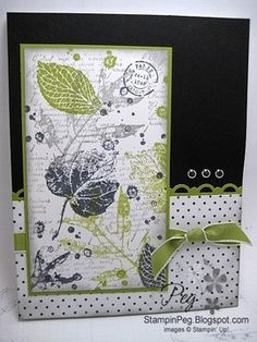 French Foliage:  Stamping Peg: August '11