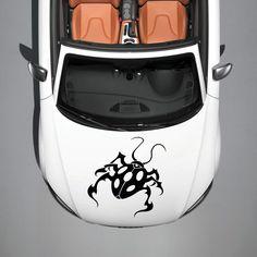 BEAUTIFUL BEETLE ANIMAL DESIGN HOOD CAR VINYL STICKER DECALS ART MURALS SV1503