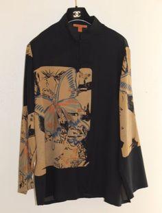 Harari-Sz-L-Elegant-Art-Wear-Rich-Asian-Butterfly-Floral-Silk-Tunic-Top