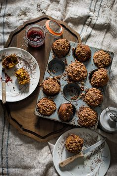Pumpkin Spice Muffins with a Crumb Topping