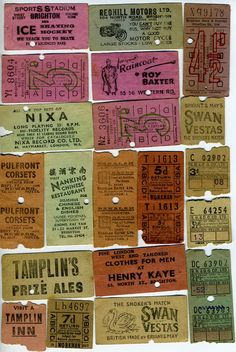 Some Brighton and Hove bus tickets bought at Art Junky (art fair and jumble sale at Phoenix Brighton). Via Alan Fred Pipes.